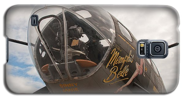 Galaxy S5 Case featuring the photograph Memphis Belle Nose Art by John Black