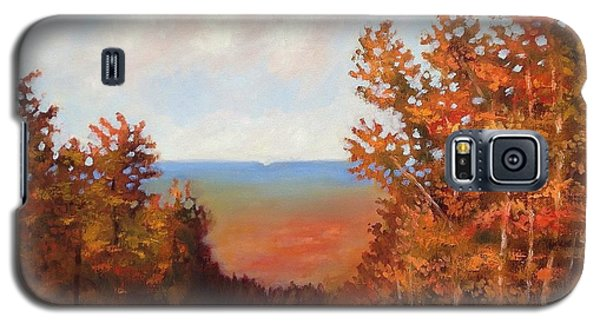 Galaxy S5 Case featuring the painting Mountain View by Jason Williamson