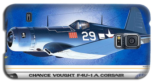 Galaxy S5 Case featuring the drawing Navy Corsair 29 by Kenneth De Tore