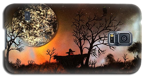 Galaxy S5 Case featuring the painting Night Of The Scarecrow  by Michael Rucker