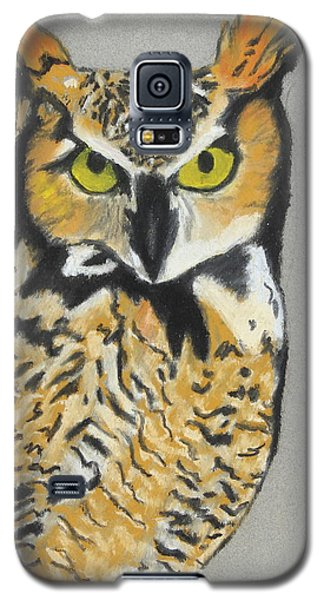 Galaxy S5 Case featuring the painting Night Owl by Jeanne Fischer