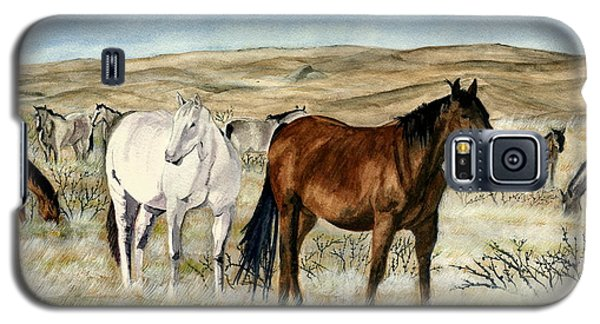Galaxy S5 Case featuring the painting Nine Horses by Melly Terpening
