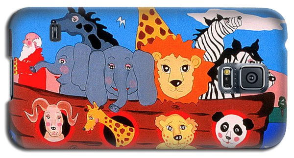 Galaxy S5 Case featuring the painting Noah's Ark by Joyce Gebauer