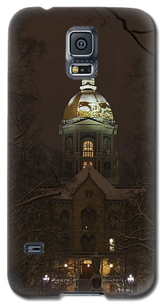 Florida State Galaxy S5 Case - Notre Dame Golden Dome Snow by John Stephens