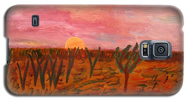 Galaxy S5 Case featuring the painting Ocean City Sunset by Vadim Levin