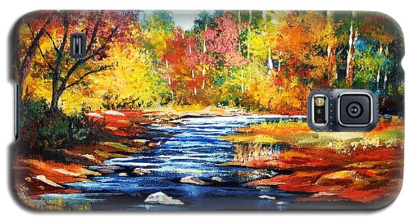 Galaxy S5 Case featuring the painting October Bliss by Al Brown