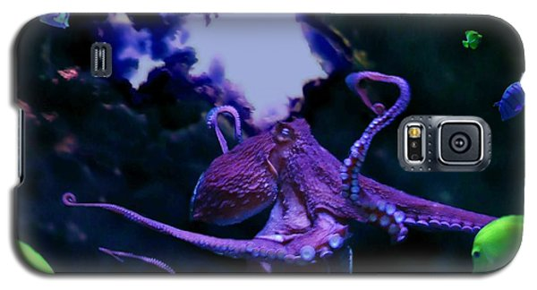 Galaxy S5 Case featuring the mixed media Octopus by Steed Edwards
