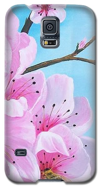 #2 Of Diptych Peach Tree In Bloom Galaxy S5 Case by Sharon Duguay