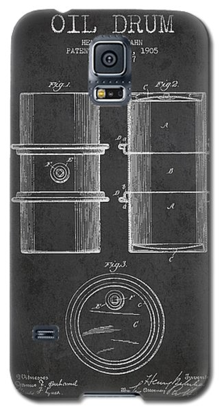Drum Galaxy S5 Case - Oil Drum Patent Drawing From 1905 by Aged Pixel