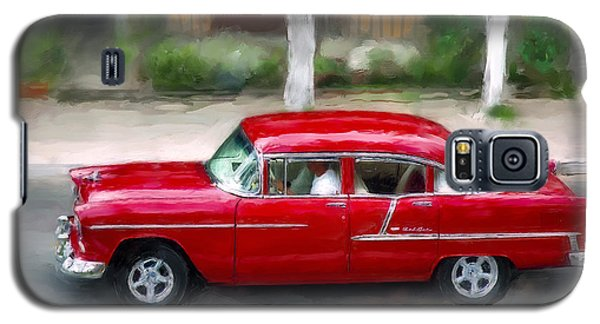 Galaxy S5 Case featuring the photograph Red Bel Air by Juan Carlos Ferro Duque