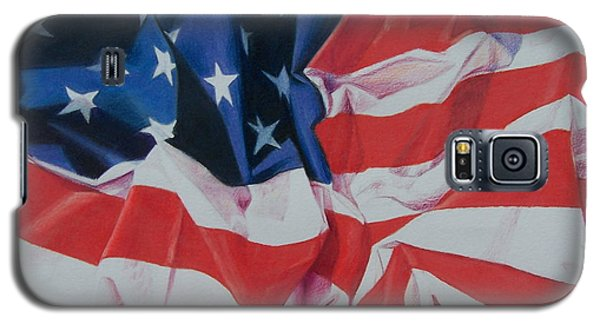 Galaxy S5 Case featuring the painting Old Glory 1 by Constance Drescher