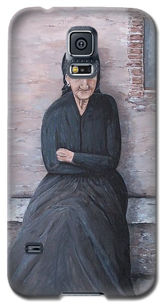 Old Woman Waiting Galaxy S5 Case