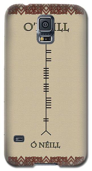 Galaxy S5 Case featuring the digital art O'neill Written In Ogham by Ireland Calling
