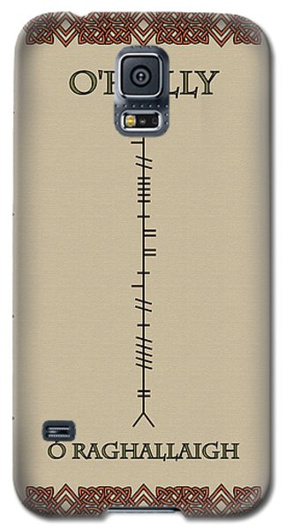 Galaxy S5 Case featuring the digital art O'reilly Written In Ogham by Ireland Calling