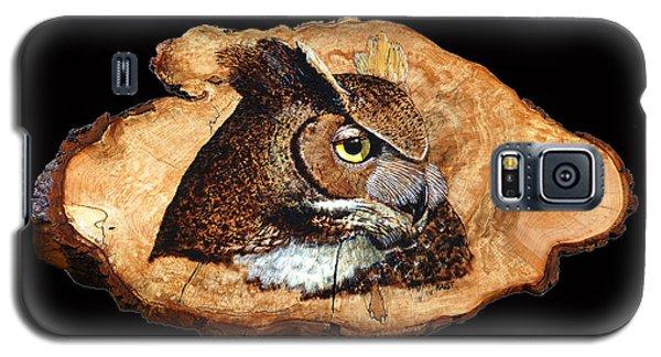 Owl On Oak Slab Galaxy S5 Case