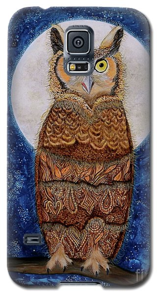 Galaxy S5 Case featuring the painting Paisley Moon by Deborha Kerr