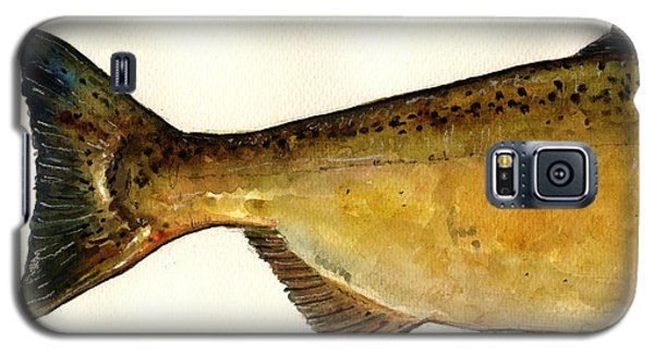 2 Part Chinook King Salmon Galaxy S5 Case by Juan  Bosco