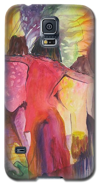Galaxy S5 Case featuring the painting Passage by Diana Bursztein