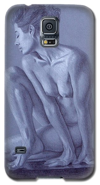 Galaxy S5 Case featuring the painting Perched  by Joseph Ogle