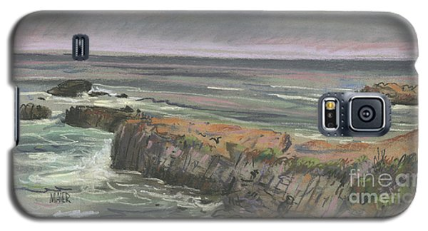 Galaxy S5 Case featuring the painting Pescadero Beach by Donald Maier