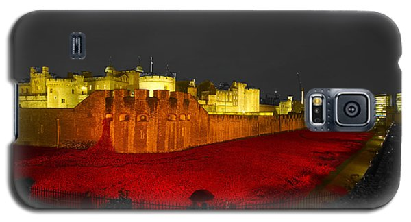 Poppies Tower Of London Night   Galaxy S5 Case