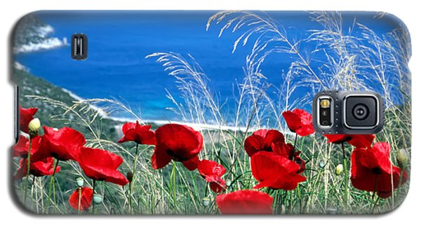 Galaxy S5 Case featuring the photograph Poppy Flowers by George Atsametakis