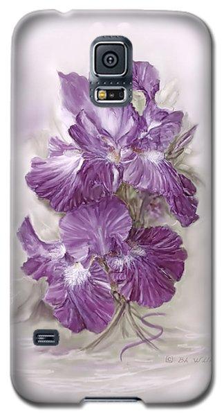 Purple Iris Galaxy S5 Case by Bonnie Willis