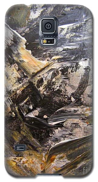 Galaxy S5 Case featuring the painting Quest For Coal by Nancy Kane Chapman