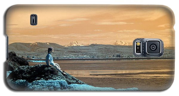 Galaxy S5 Case featuring the photograph Quiet Beach by Rebecca Parker