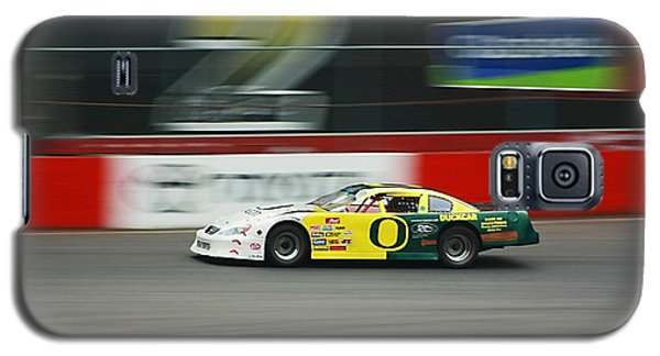 Galaxy S5 Case featuring the photograph Racing Oregon Ducks Nascar by Tyra  OBryant