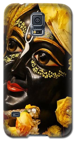 Radha Krishna Idol Hinduism Religion Religious Spiritual Yoga Meditation Deco Navinjoshi  Rights Man Galaxy S5 Case by Navin Joshi