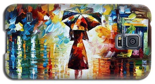 Town Galaxy S5 Case - Rain Princess - Palette Knife Landscape Oil Painting On Canvas By Leonid Afremov by Leonid Afremov