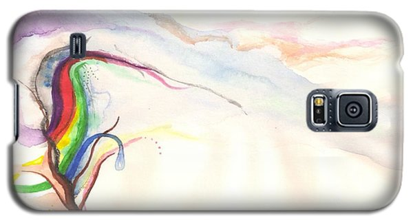 Galaxy S5 Case featuring the painting Rainbow Tree by Rod Ismay