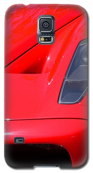 Galaxy S5 Case featuring the photograph Red Ferrari by Jeff Lowe