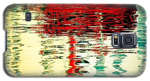 Reflection In Water Of Red Boat Galaxy S5 Case