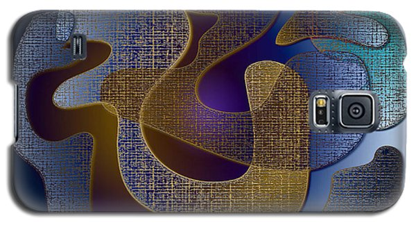 Galaxy S5 Case featuring the digital art Relaxing Shapes by Iris Gelbart