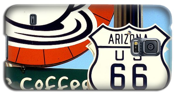Galaxy S5 Case featuring the digital art Route 66 Coffee by Valerie Reeves