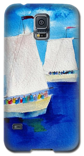 2 Sailboats Galaxy S5 Case by Carlin Blahnik