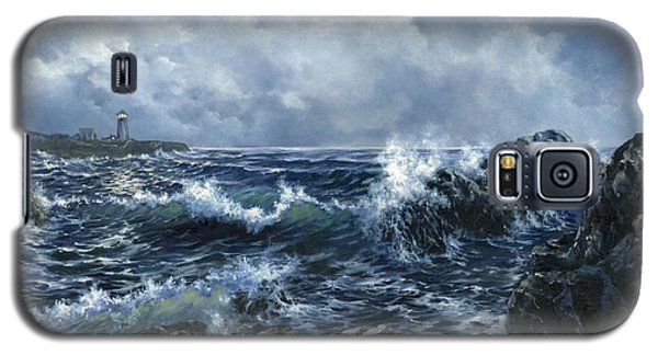 Galaxy S5 Case featuring the painting Sailor's Light by Lynne Wright