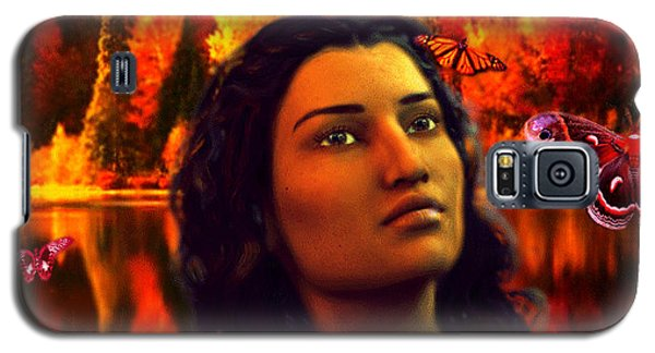 Galaxy S5 Case featuring the painting Saint Kateri by Suzanne Silvir