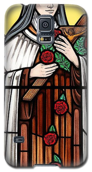 Saint Therese Of Lisieux Galaxy S5 Case by Gilroy Stained Glass