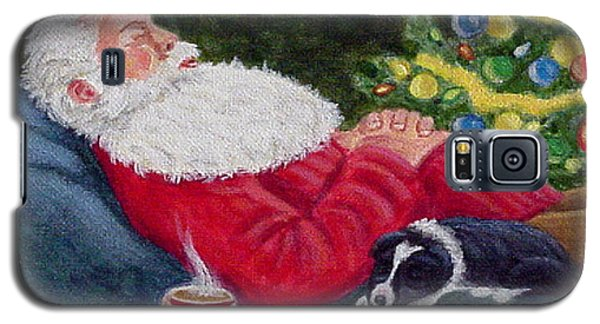 Galaxy S5 Case featuring the painting Santa And Breagh by Fran Brooks