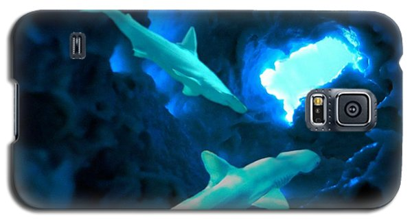 Galaxy S5 Case featuring the mixed media Shark Cave by Steed Edwards