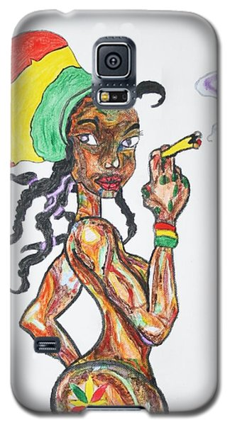 Smoking Rasta Girl Galaxy S5 Case by Stormm Bradshaw