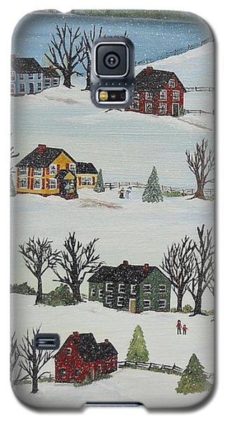 Galaxy S5 Case featuring the painting Snow Day by Virginia Coyle