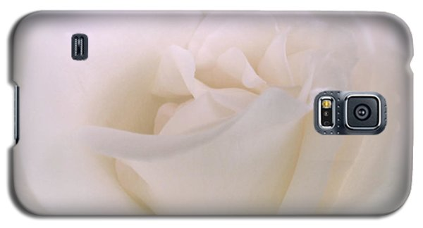 Softness Of A White Rose Flower Galaxy S5 Case by Jennie Marie Schell