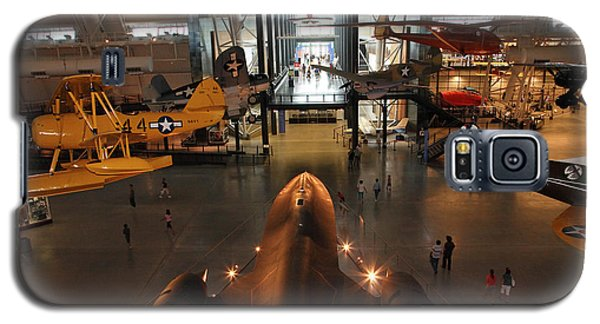 Sr71 Blackbird At The Udvar Hazy Air And Space Museum Galaxy S5 Case