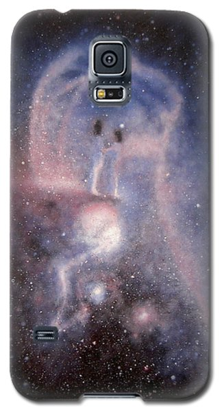 Galaxy S5 Case featuring the painting Star Couple by Min Zou