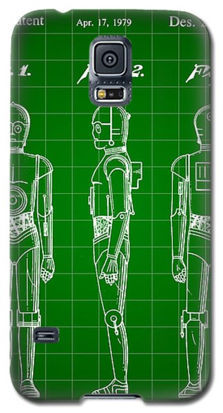 R2-d2 Galaxy S5 Case - Star Wars C-3po Patent 1979 - Green by Stephen Younts