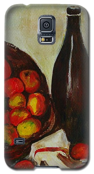 Still Life With Apples After Cezanne - Painting Galaxy S5 Case by Veronica Rickard